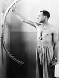 Physical Therapy Patient Using Finger Walker to Increase Shoulder Flexibility, 1950 Prints