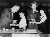 Students Receive Tuberculin Test to for Exposure to Tuberculosis, 1950s Prints