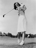 Mildred 'Babe' Didrikson Zaharias Swinging Golf Club in 1947 Photographie