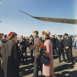 President and Jacqueline Kennedy Arrive at Dallas's Love Field, Nov. 22, 1963 Posters