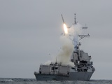 Tomahawk Cruise Missile Launch from Guided-Missile Destroyer USS Sterett, 2010 Photographic Print