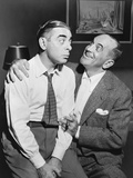 Al Jolson Right Sings to Eddie Cantor in a 1941 Rehearsal Photo