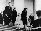 President Kennedy's Family Leaves the Capitol after a Funeral Ceremony, Nov. 24, 1963 Print