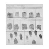 Fingerprint Record Sheet from the Navy Department in 1912 Premium Giclee Print