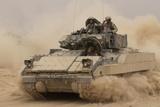 Army Bradley Fighting Vehicle in Iraq, Oct. 30, 2004 Photo