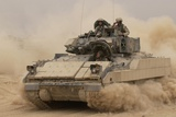 Army Bradley Fighting Vehicle in Iraq, Oct. 30, 2004 Photographic Print