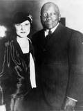 Jack Johnson, One-Time Heavyweight Champion, with His 4th Wife, Oct. 7, 1931 Photo