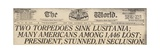 Lusitania Sinking Headline from the World, a NYC Newspaper, May 15, 1915 Posters