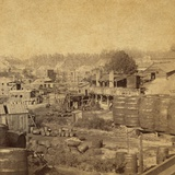 Barrels and Buildings at an Oil Refinery in Erie, Pennsylvania in the 1870s Posters