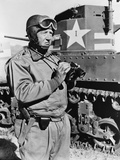 General George S. Patton, Commanding Officer of First Armored Corps Observing M3 Tanks, May 1942 Posters