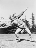 Mildred 'Babe' Didrikson, Winding Up for Javelin Toss at the 1932 Olympics Photographie