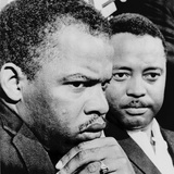 John Lewis (Left) and Hosea Williams, Leaders of Selma Voting Rights Protests 1965 Photo