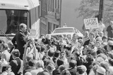Presidential Candidate Jimmy Carter Speaking in Pittsburgh, Pa, Sept. 8, 1976 Print