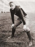 Future US President Gerald Ford Played Football During His College Years, Ca. 1933 Photo