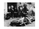 U.S. WW2 Soldier Receives Blood Plasma in a Sicilian Street, 1943 Prints