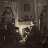 Family Reads at the Fireside, 1935 Photo