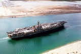 John F. Kennedy in the Suez Canal Returning from the First Gulf War, 1991 Photographic Print