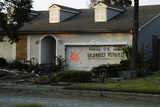 Hurricane Katrina Evacuatees Have Marked their Home in Slidell Louisiana, Sept. 2005 Photo