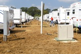 Trailers Outside Baker Louisiana to House Hurricane Katrina Victims, Sept. 2005 Prints