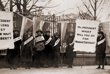 National Women's Party College Women Protest in Front of the White House in 1918 Poster