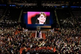 VP Candidate Sarah Palin on the Big Screen at the 2008 Republican Convention Prints