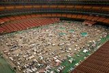 Louisiana Evacuees from Hurricane Katrina in Houston Astrodome, Sept. 2, 2005 Poster