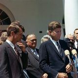 J. Edgar Hoover Joins President Kennedy for White House Ceremony, May 7, 1963 Photo