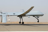 Predator Drone Takes Off from Balad Air Base, Iraq, June 12, 2008 Photographic Print