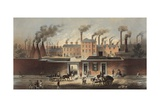 Wentworth Works, File and Steel Manufacturers and Exporters of Iron in Sheffield, England, Ca. 1860 Prints