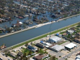 After Hurricane Katrina, a Levee Broke on One Side, While the Other Held, 2005 Prints