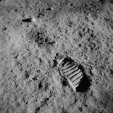 Apollo 11 Boot Print on the Moon. July 20, 1969 Photo