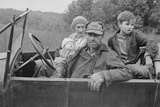 A Destitute Family with Their Old Car in Ozark Mountains During the Great Depression. Oct, 1935 Photo
