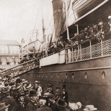 The S.S. Angelo Leaving Oslo, Norway, with Emigrants for America, Ca. 1905 Photo