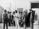 African Americans Wait at the Circuit Court to Register to Vote in Mississippi, 1960s Photo