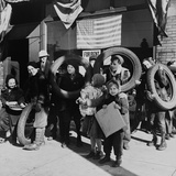 Children Bringing Scrap to the Block Office of Civilian Defense Headquarters. Chicago Nov, 1943 Photo