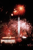 Fireworks over the U.S. Capitol Mall for George H.W. Bush Inauguration, 1989 Photo