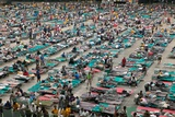Louisiana Evacuees from Hurricane Katrina in Houston Astrodome, Sept. 2, 2005 Photo