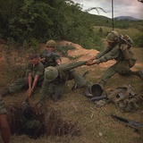 US Infantryman Is Lowered into a Tunnel in Quang Ngai Province, Vietnam, April 1967 Photo