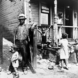 African American Steelworker with His Family in Pittsburgh, Pennsylvania, 1935 Posters