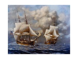 USS Constellation Defeats L'Insurgente During Undeclared War with France, 1799 Prints
