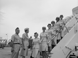 First Five Air Force Women Assigned to Vietnam Arrive at Tan Son Nhut, June 1967 Photo