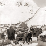 Long Ribbon of Miners Bound For the Klondike Gold Fields Climbing over the Chilcoot Pass, in 1898 Prints