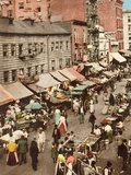 Jewish Market on the East Side, New York City, Ca. 1905 Posters