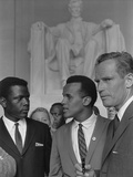 Sidney Poitier, Charlton Heston, and Harry Belafonte at March on Washington, 1963 Prints