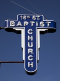 Sign of the 16Ht Street Baptist Church, Where 4 Girls Died in a Bombing in 1963 Print