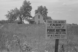 Sign Advertising Farm Auction New Carlisle Ohio Photo