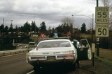 Oregon State Police Stops a Driver Who Exceeded 55 Mph National Speed Limit, 1973 Photo