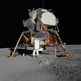 Apollo 11 Lunar Module on the Moon's Surface, July 20, 1969 Photo
