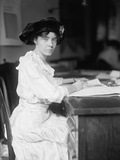 Alice Paul, Militant American Suffragette at Her Desk in 1915 Photo