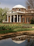 Monticello, Thomas Jefferson's Plantation Home, West Front from Southwest, Ca.1995 Posters